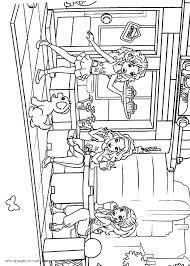 lego friends coloring pages the caf