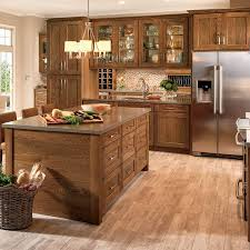 brown kitchen cabinets lowes shenandoah mission 14 5625 in x 14 5 in oak shaker