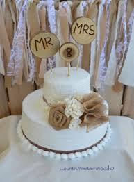 rustic cake topper wedding cake topper burlap cake topper wood