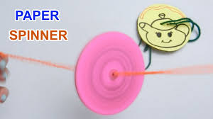 how to make paper spinner for fun crafts for kids youtube