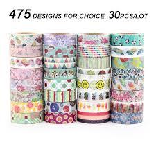 washi tape designs aliexpress com buy 480 designs 30pcs lot hot sale floral cartoon