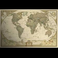 World Map Wall Poster by Small Paper World Map Wall Poster Family Office Decor Art Antique