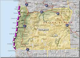 map of highway 395 oregon coast highway oregon