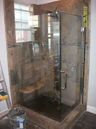 stylish frameless glass shower panels door with white free