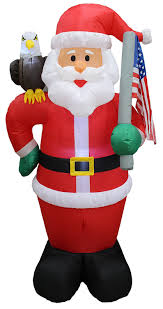 amazon com 6 foot tall lighted christmas inflatable patriotic