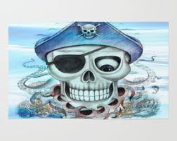 Skull Area Rug View Skull Rugs By Folkandfunky On Etsy