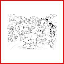 Coloriage Animaux De La Savane Poster Géant à Colorier Animaux De La