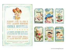 baby shower cowboy digital printable vintage baby cowboy boy shower pregnacy