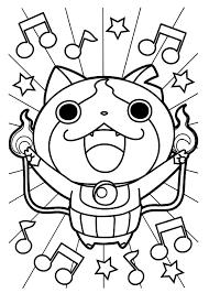 coloriages à imprimer des personnages fascinants de yo kai