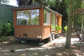 Vacation Tiny House More Like A Trailer Or Airstream With End Windows On 3 Sides