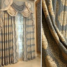 Pattern Drapes Curtains Privacy Retro Curtains Drapes Of Jacquard Patterns