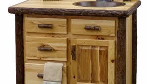Log Vanity Rustic Bathroom Vanity Cabinets Exitallergy Com