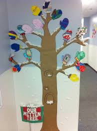 mitten tree winter classroom display