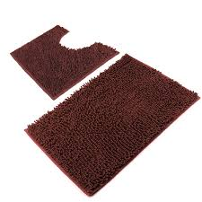 Brown Bathroom Rug Vdomus Microfiber Bathroom Contour Rugs Combo Set Of 2 Soft