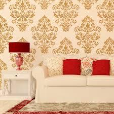 stencils for home decor interior damask wall stencil pattern ludovica for diy home decor
