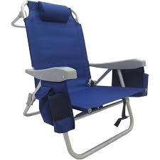 Beach Chairs At Walmart 5 Position All Purpose Beach Chair Blue Walmart Com