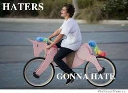Bike Meme - haters gonna hate bike meme picsmine
