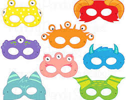 printable monster halloween masks 6 kids diy paper halloween