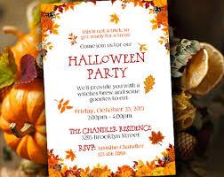 Thanksgiving Invitations Templates Free 22 Halloween Invitation Templates U2013 Free Sample Example Format