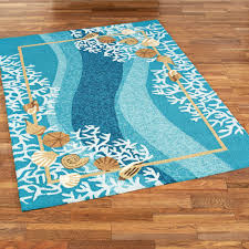 Rugs Outdoor Shells And White Coral Coastal Indoor Outdoor Rugs