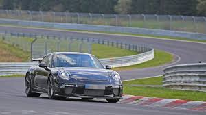 porsche 911 gt3 facelift tackles the nurburgring