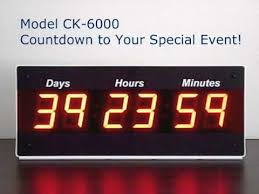 large event countdown clock count up timer with days