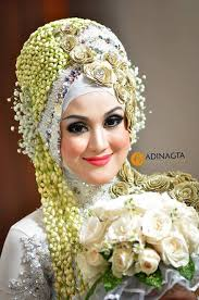 tutorial hijab pengantin 2014 tutorial hijab pengantin glamour hijab style 6