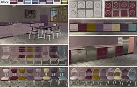 mod the sims kitchen set consisting of recolors of objects from