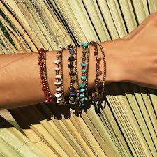 fashion stone bracelet images Raw stone stack bracelets modern day hippie jpg