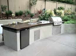 Outdoor Kitchen Granite Countertops Astounding Design Ideas Using L Shaped Brown Brick Islands And