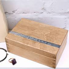 personalized wooden keepsake box personalised wooden anniversary keepsake box by warner s end