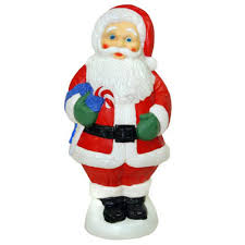 lighted decorations molded santa claus