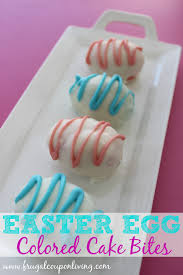 frugal coupon living u0027s homemade easter egg cake bites recipe