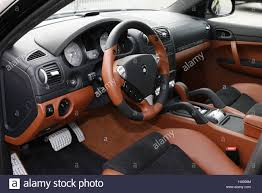 gemballa porsche panamera porsche cayenne gemballa avalanche gt 650 cockpit stock photo