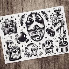 229 best tattoo flash images on pinterest flower tattoo and board