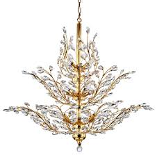 Extend A Finish Chandelier Cleaner 18 Light Chandelier Gold Finish With European Crystals