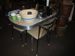 retro vintage dinette kitchen table with 4 chairs leaf