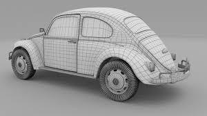 volkswagen beetle white 3d vw beetle cgtrader