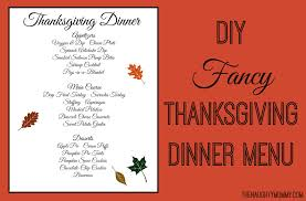diy fancy thanksgiving dinner menu the