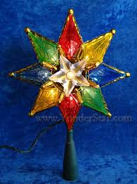 Star Christmas Tree Toppers Lighted - 8