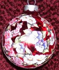 berries glass decoupage ornaments by ornamentsfromhome
