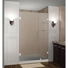 dreamline aqua ultra 45 in x 72 in semi framed hinged shower
