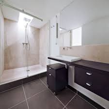 Shower Rooms by Bathroom Design Laminate Tile Floor With Floating Bathroom Sink
