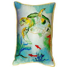 Sea Turtle Home Decor Betsy U0027s Sea Turtle Extra Large Zippered Indoor Outdoor Pillow