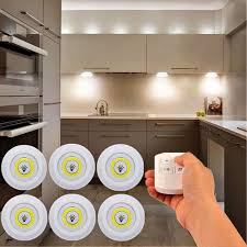 battery operated led lights for kitchen cabinets 6pcs battery operated dimmable warm light 2700k led cabinet light