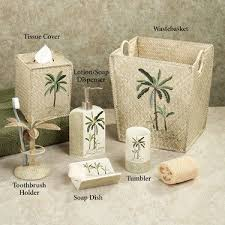 classy inspiration palm tree bathroom set decor tsc collections