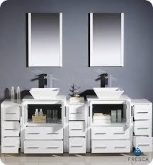 To  Torino Double Vessel Sink Vanity White Bathgemscom - Bathroom vanity for vessel sink 2