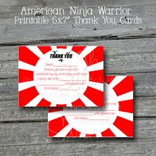 thank you card thank you note printable 5x7