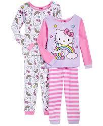hello 4 pc cotton pajama set toddler 2t 5t