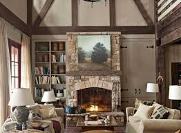 living room 2017 rustic living room with stone fireplace for